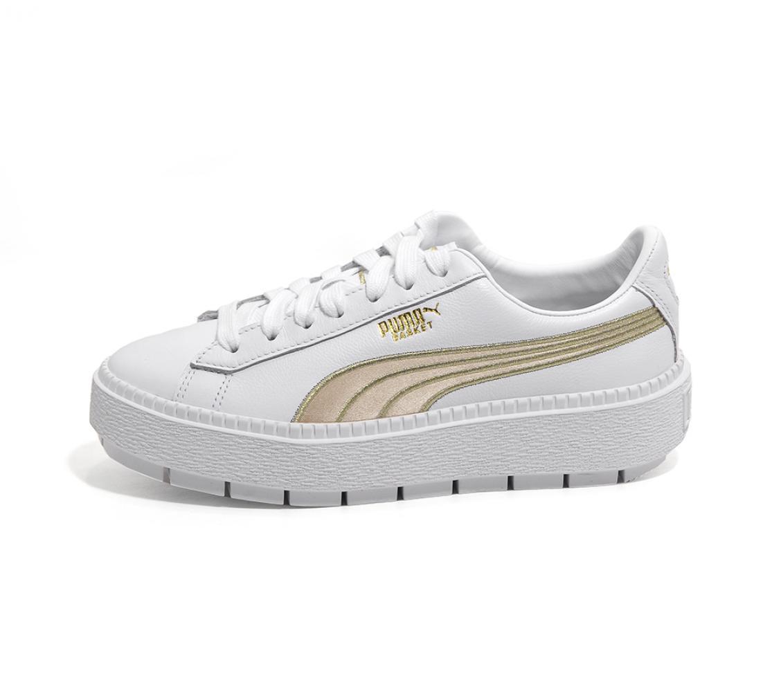 PUMA Schuhe Damens VARSITY PLATFORM TRACE VARSITY Damens WHTMETT GOL AI18 528c8a
