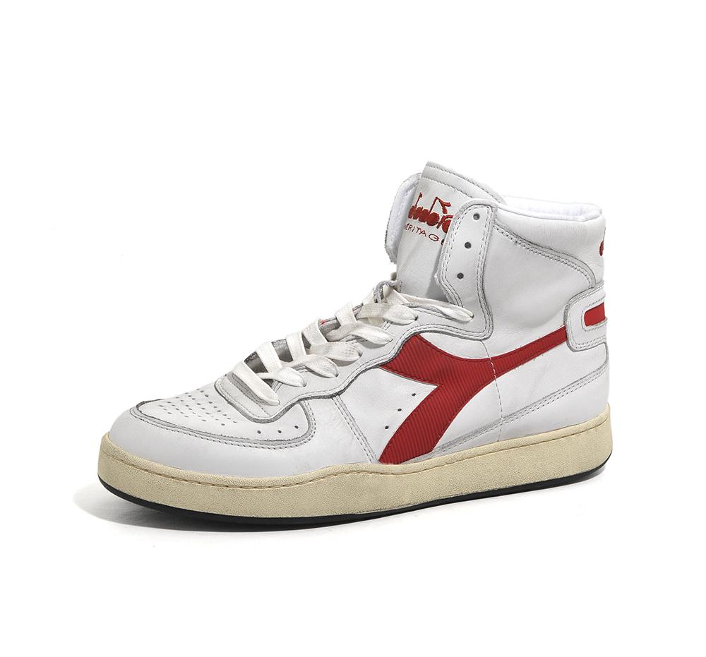 scarpe uomo diadora heritage mi basket usedc7114 white-garnetmi ... 42393650144